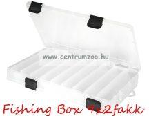 FISHING BOX kétoldalas tároló aprócikkes doboz  27x18x4,3cm  9x2fakk (75097-369)
