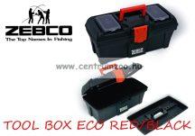 Zebco® TOOL BOX ECO RED & BLACK horgászláda (8033001)