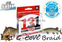 Sufix 131 G-Core Braid  13 szálas fonott zsinór 0,405mm 27,22kg 150m zöld (3002812)