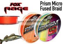 Fox Rage Prism Micro Fused Braid Orange 120m 0,12mm 7,98kg új fonott zsinór (NBL058)