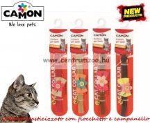 Camon Cat Collare elasticizzato con fiocchetto e campanello nyakörv cicáknak több színben (DG041/A)