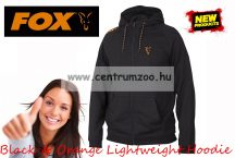 FOX Black & Orange Lightweight Hoodie pulóver XXXLARGE (CCL030)