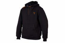 FOX  Collection Black Orange Hoodie pulóver SMALL (CCL001)