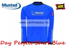 Mustad Day Perfect Shirt Blue hosszúujjú póló kék (NLMU10622-10625)