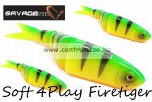Savage Gear Soft 4Play 13cm 21g 3db gumihal Firetiger (42186)