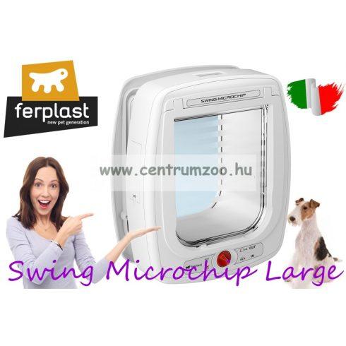 Ferplast Swing Microchip Large HUZATMENTES CHIPES 4 funkciós cica ajtó (72093011) FEHÉR