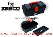 Zebco® TOOL BOX XL ECO RED & BLACK horgászláda (8033002)