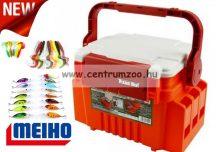 Meiho Versus VW-2055 Japan - prémium horgászláda  31x23x22cm (5612524) Narancs