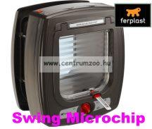 Ferplast Swing Microchip Large HUZATMENTES CHIPES 4 funkciós cica ajtó (72093012) BARNA