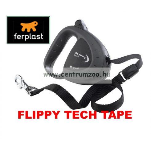Ferplast Flippy Tech Deluxe Tape Large Black szalagos póráz - FEKETE