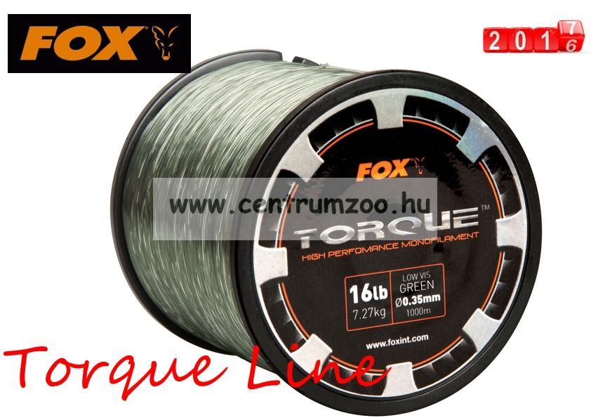 FOX Torque Line 0.35mm 16lbs x 1000m Green monofil zsinór (CML147)