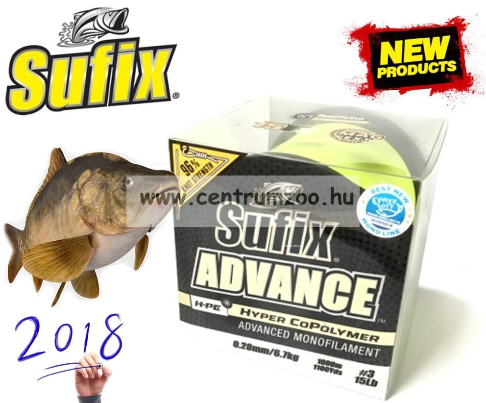 Sufix ADVANCE Hyper CoPolymer 1000m G2 Winding 0,35mm/11,3kg/HI VIS YELLOW monofi zsinór
