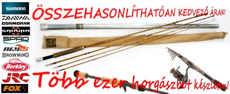 Több ezer horgászbot akciósan, készleten!